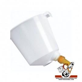 Cubo teton blanco para terneros 1 salida